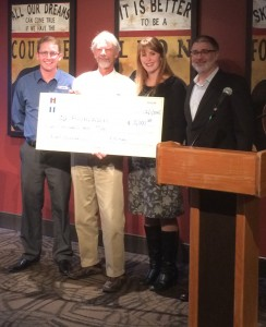 Check presentation to UCCS scholarship fund