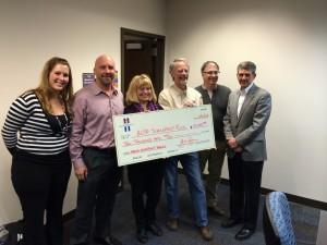 ACBF Scholarship Fund check presentation
