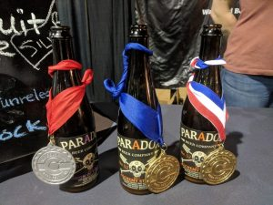 Paradox silver, gold, and best of show medals