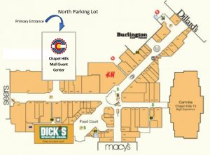 Map of Chapel Hills Mall Event Center